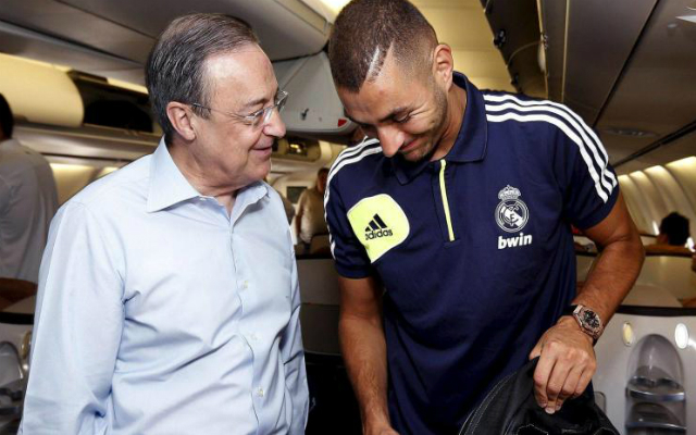 Benzemára nehéz idők járnak, de Pérez és a Real Madrid egyelőre kiáll mellette  / (archív)