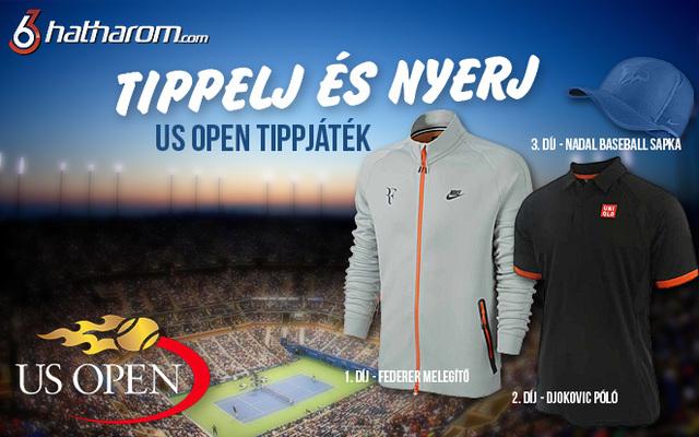 Ingyenes US Open tippjáték! Tippelj és nyerd meg a legmenőbb teniszcuccokat!