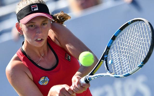Besült Mertens terve. - Fotó: WTA