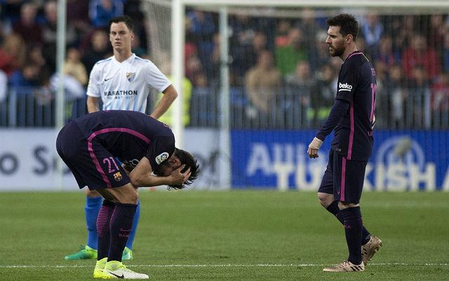 A Barcelona sirathatja a Málagában hagyott pontokat