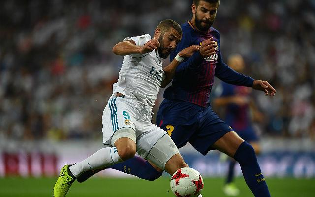Benzema gólt lőtt a visszavágón, igaz, nem Piqué, hanem Umtiti mellől