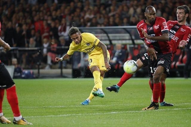 Neymar eddig mérlege a PSG-ben: 1 meccs, 1 gól, 1 gólpassz