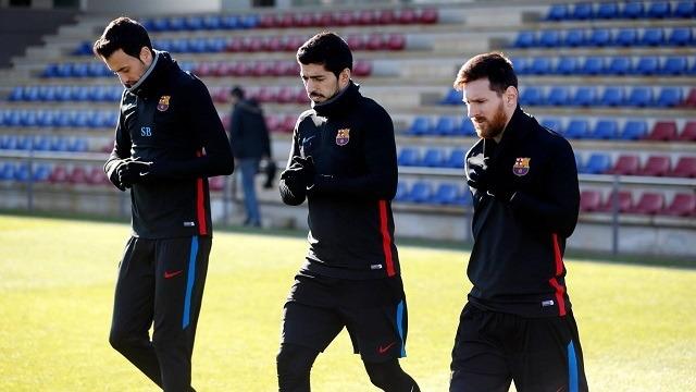 Busquets, Suárez és Messi is ott lehet a kezdőben kedden este / fcbarcelona.es