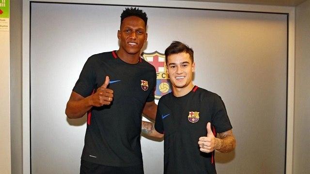 Mina és Coutinho érkezése erősít a Barcának / facebook.com