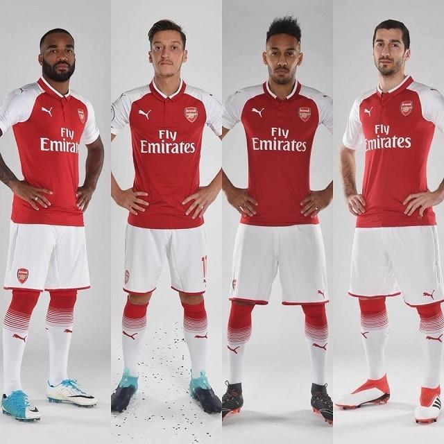 Az Arsenal támadósora / facebook.com