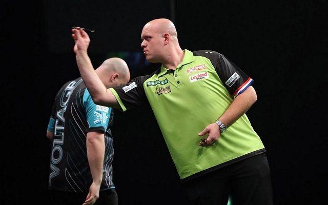 Van Gerwen komoly verést osztott ki Crossnak. - Fotó: skysports.com