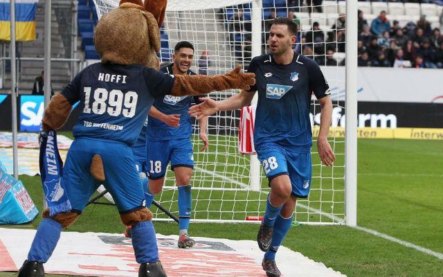Volt oka az ünnepre, hiszen remek formában focizott. fotó: Hoffenheim Facebook