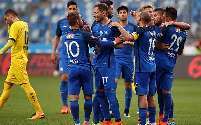 A gólkirályi címre pályázó Lencse és társai. fotó: M4 Sport