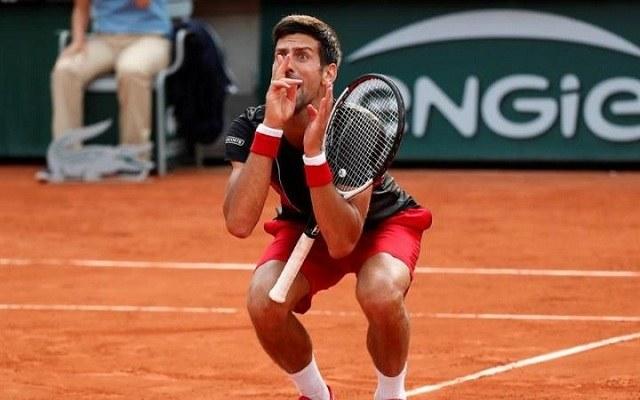 Djokovics időnként a közönséggel perelt. - Fotó: ATP