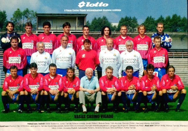 A Vasas Casino Vigadó 1996-ról, többek között Gellei Imrével, Váczi Zoltánnal, Galaschek Péterrel, Sáfár Szabolccsal