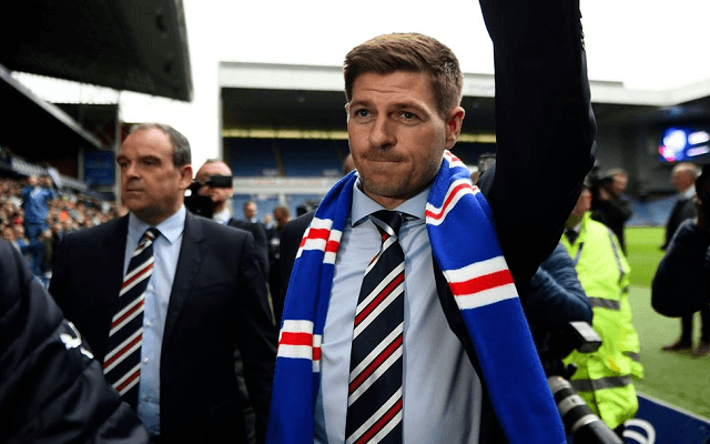Gerrard pazarul kezdett a Rangersnél. - Fotó: Twitter