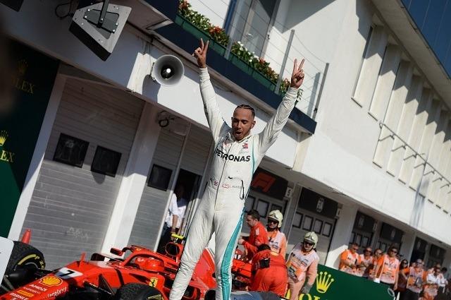 Hamilton győzött és növelte előnyét. - Fotó: MTI