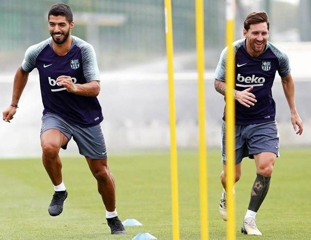 Suárez és Messi is játékra jelentkezik vasárnap. fotó: archív