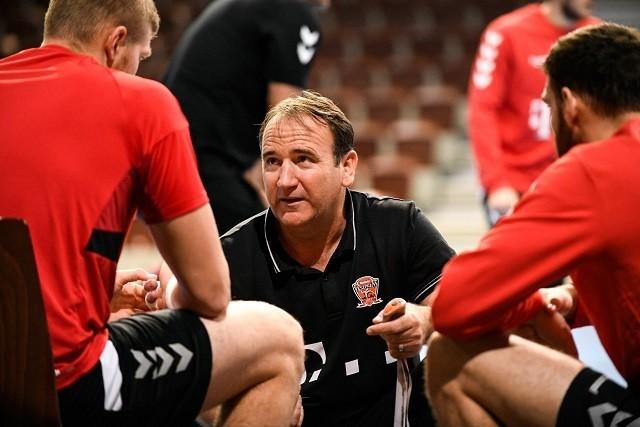 Gulyás István vezeti szombaton a Veszprémet / Fotó: veszpremhandball.com