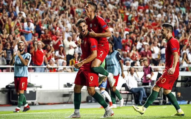 A portugálok borsot törtek az olaszok orra ala. fotó: UEFA Twitter