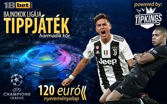 Újra Bajnokok Ligája, újra tippjáték! Az első hat játékos 20 eurót nyerhet!