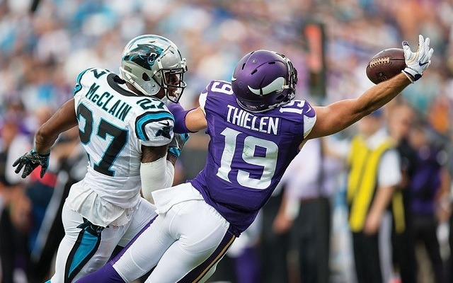 A Minnesota 19-ese bohócot csinál a védelmekből. - Fotó: NFL