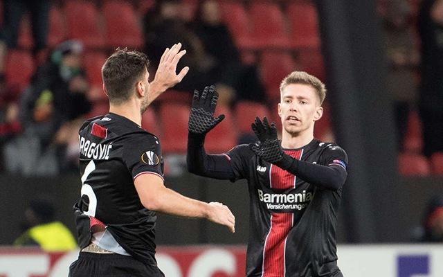A Herthából érkezett Weiser bombagólt vágott az EL-ben. fotó: Leverkusen Official