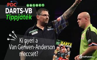 Ki nyeri a Van Gerwen-Anderson csúcsrangadót? - napi tippjáték!