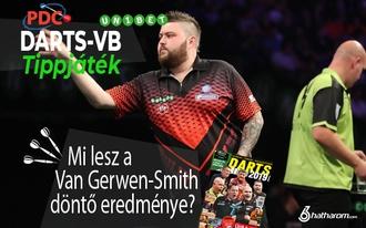 Mi lesz a Van Gerwen-Smith döntő pontos eredménye? - napi tippjáték
