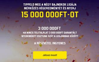 Tippeld meg ingyen a BL-meccseket és kaszáld be a 15 millió forintot!