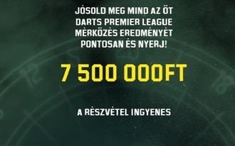 Ezúttal 7.5 millió forintot lehet nyerni 5 jó tippel!