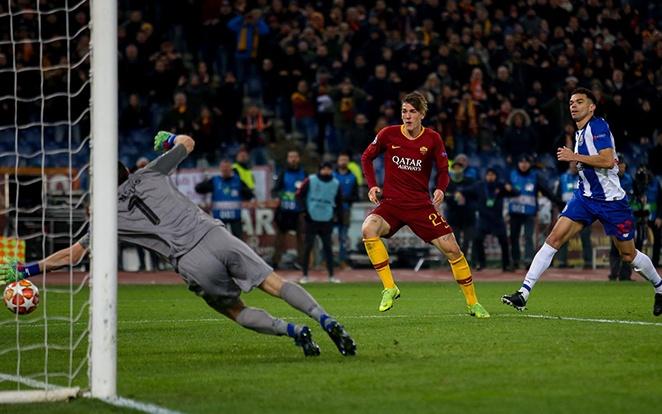Az ifjú tehetség, Zaniolo kettőt vágott az odavágón a rutinos Casillas hálójába. fotó: Twitter