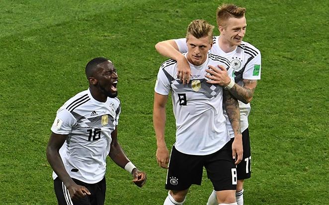 Rüdiger, Kroos és Reus is a keretben van. fotó: Twitter