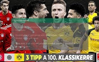 Három tipp a Bayern-Dortmundra hatszoros pénzért? Mutatjuk!