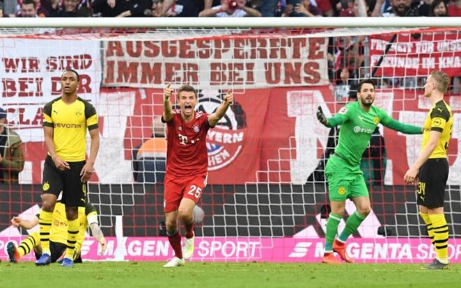 A Dortmundon csúnyán átgázoltak Müllerék. fotó: Twitter