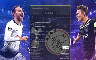 3.45-ös tipp a Tottenham-Ajax összecsapása? Így fogadjátok Ti a BL-elődöntőt