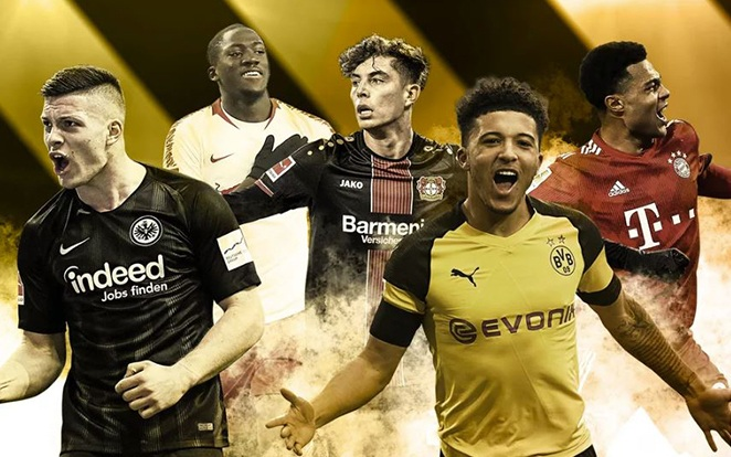 Komoly sztárpalánták nőttek ki a ligában a 2018/19-es szezonban is. fotó: Bundesliga