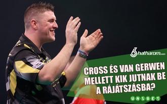 Kik jutnak be Cross és Van Gerwen mellett a rájátszásba? Tippelj és nyerj!