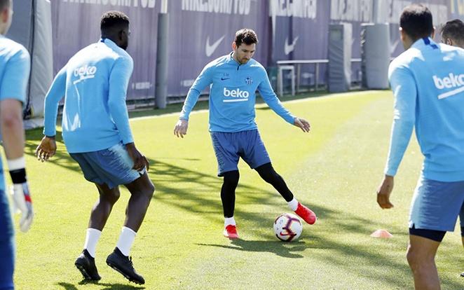 Messiék egyik utolsó edzése az idényben. fotó: Twitter