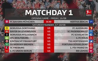 501-szeres odds is a Bundesliga 2019/20-as szezonjának első szemléjében