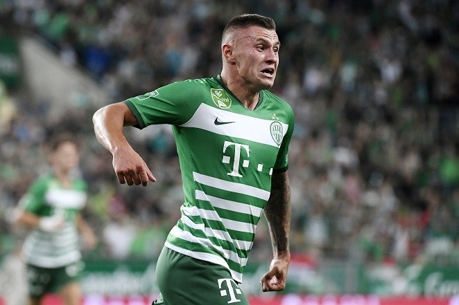Zubkov gólja jelenti a Fradi előnyét - Fotó: MTI