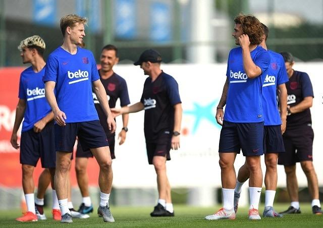 De Jong és Griezmann már a Barcelona edzésén / Fotó: FC Barcelona