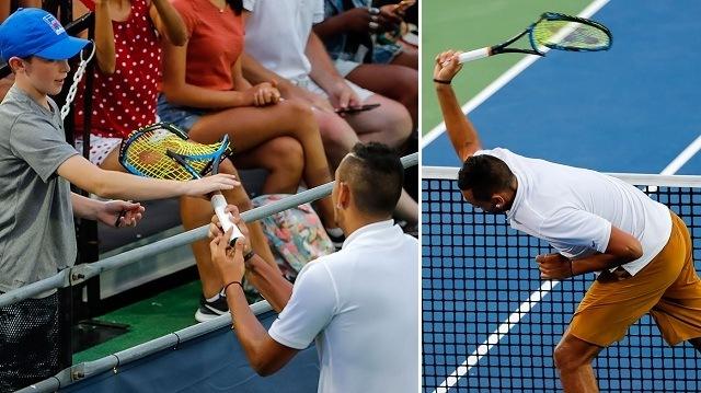 Így vezette le frusztrációját Nick Kyrgios - Fotó: ATP