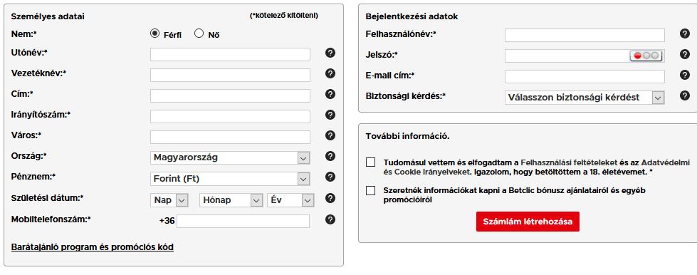 opció regisztráció pénz reálszámla