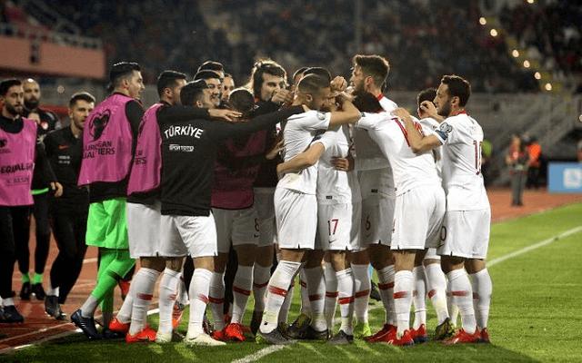 A törökök 2-0-ra nyertek márciusban Albániában. - Fotó: Twitter