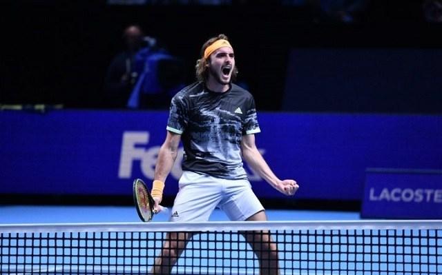 Tsitsipas öt elbukott meccs után tudta legyőzni Medvedevet. - Fotó: ATP