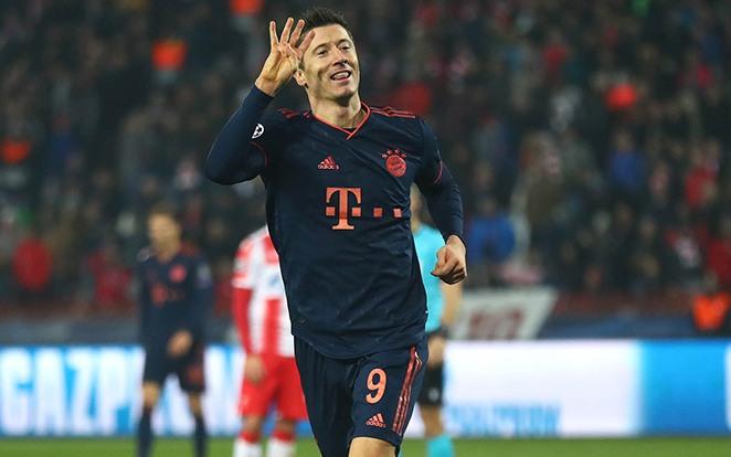 Legutóbb 4 gól 15 perc alatt...Ki állítja meg Lewandowskit? Fotó: Twitter