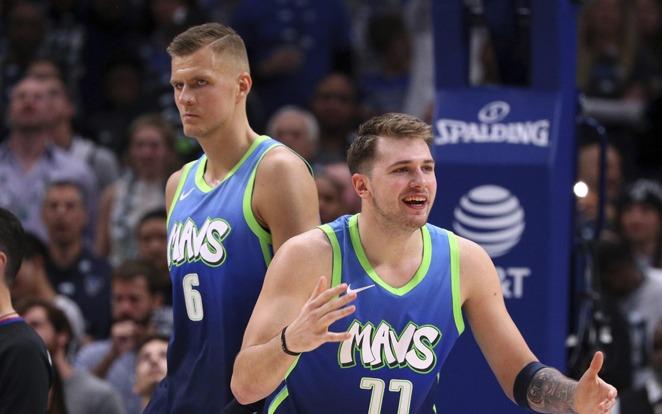 Porzingis és Donicic, az európai sztárduó újra bajnoki esélyessé tette a Maverickset. fotó: NBA Official