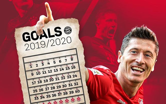 Vajon meddig jut idén Lewy? Fotó: Bayern Twitter