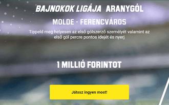 Így nyerhetsz 1 millió forintot a Molde-Fradi mérkőzésen!