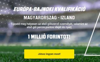 Két jó megérzéssel 1 millió forintot kaszálhatsz az Izland-meccsen!