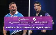 Tippelj ingyen a darts-vb döntőjére és vidd el a 200 ezer forint jackpotot!