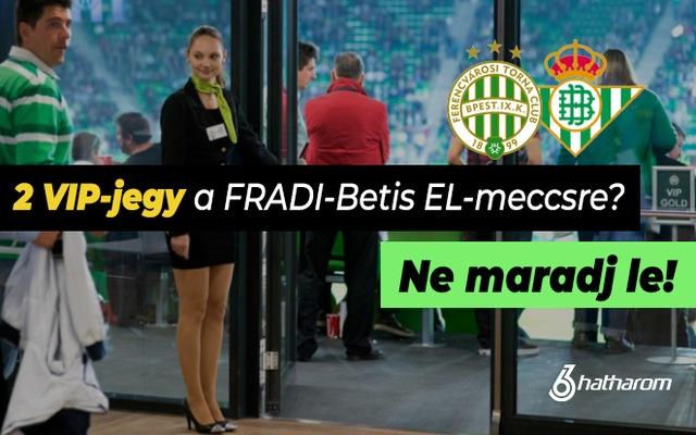 Ragadd meg a lehetőséget és nézd a VIP-páholyból a Fradi-Betist!