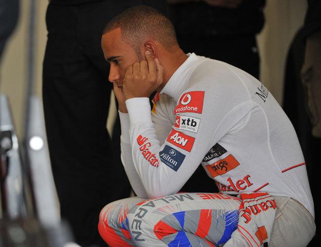 Hamilton csalódottsága érthető: ezúttal csapata hibázott - Fotó: AFP
