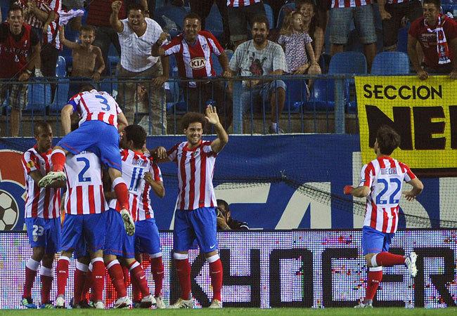 Gólöröm, Atlético módra - Fotó: AFP